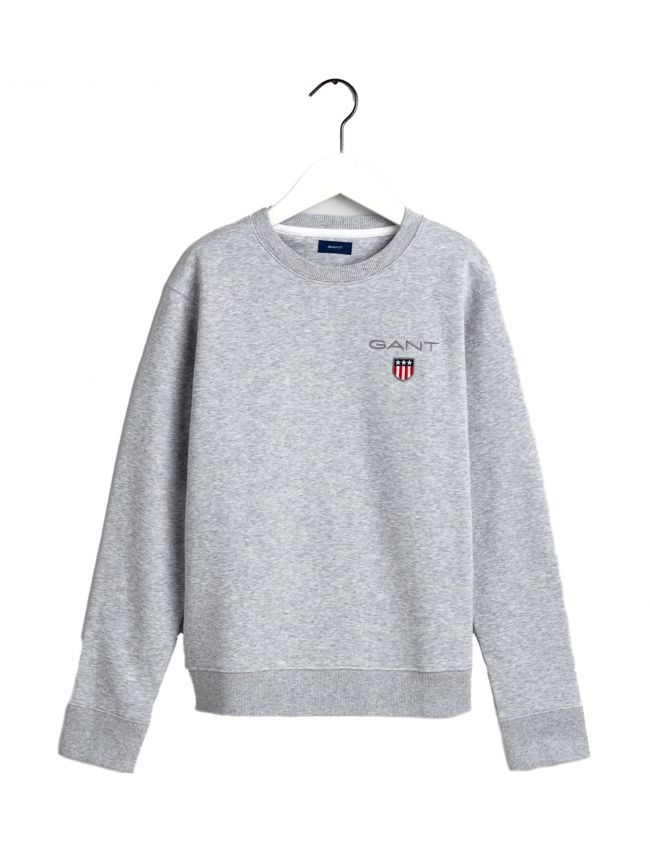 Light Grey Shield Logo Sweatshirt