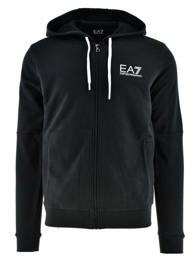 Black Taped Hooded Logo Sweatshirt