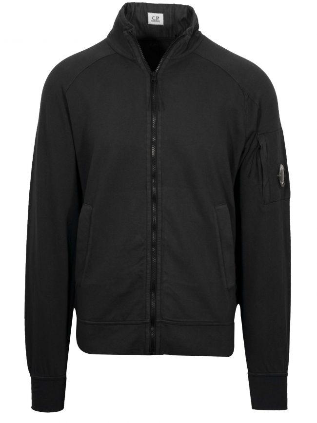 Black Bomber Zip Sweatshirt