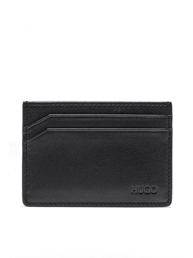 Black Four Slot Smooth Leather Card Holder