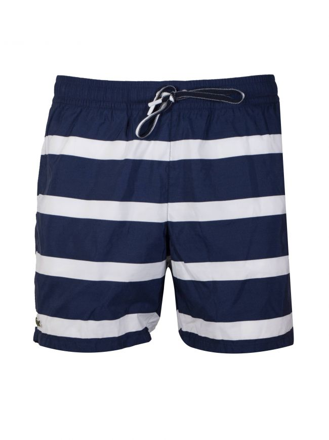 Navy Blue & White Swim Short