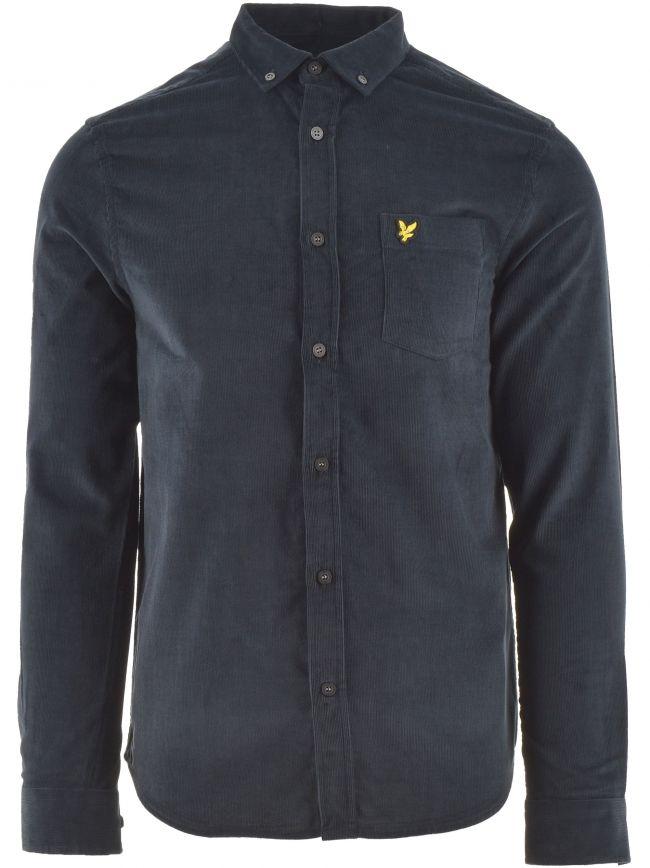 Dark Navy Needle Cord Shirt