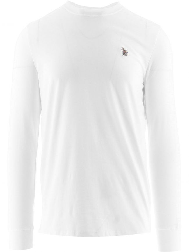 White Long Sleeve Zebra T-Shirts