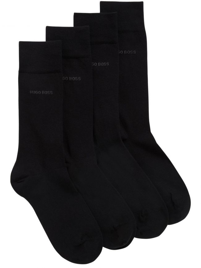 Black 2-Pack Soft Cotton Socks