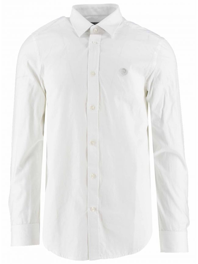 White Logo Slim Fit Shirt