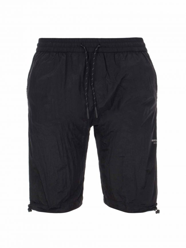Black Liquid Nylon Shorts
