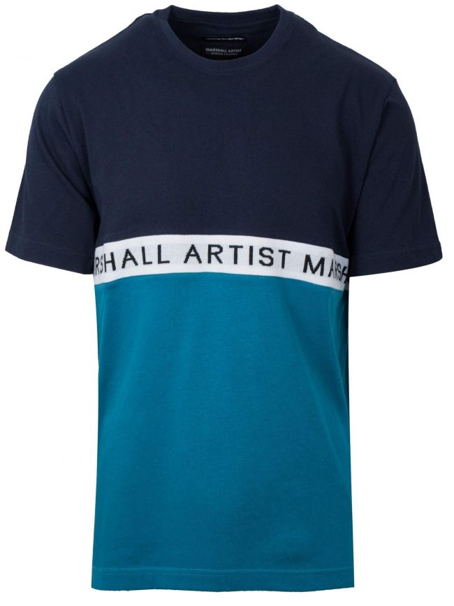Navy & Teal Short Sleeve T-Shirt