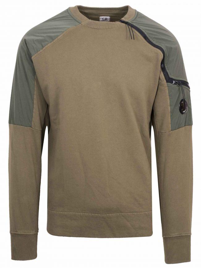 Khaki Zip Sweatshirt