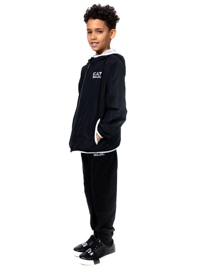 EA7 Kids Black Logo Jacket