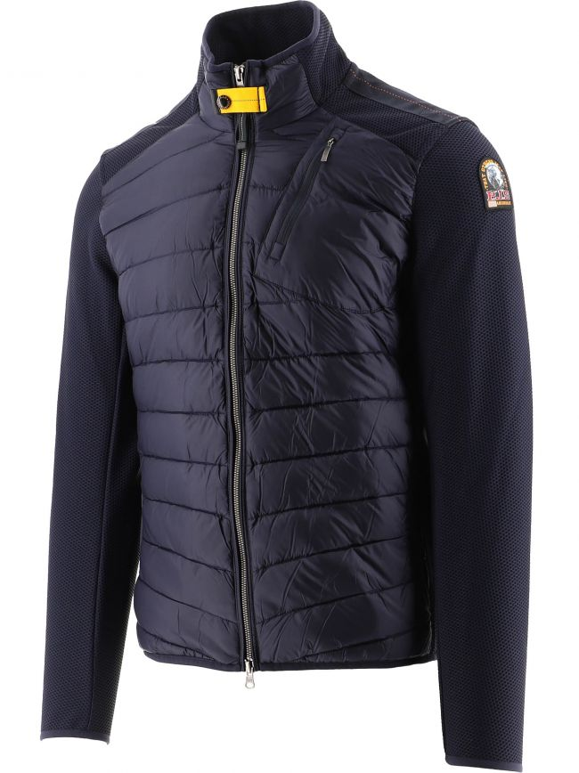 Navy Jayden Fleece Nylon Jacket