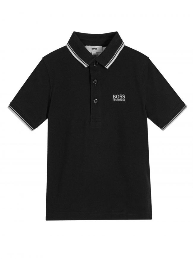 Black Piquí© Cotton Polo Shirt