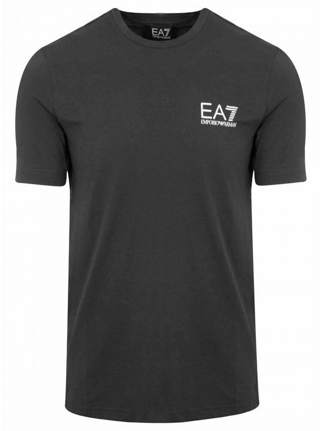 Black Short Sleeve Tape Logo T-Shirt