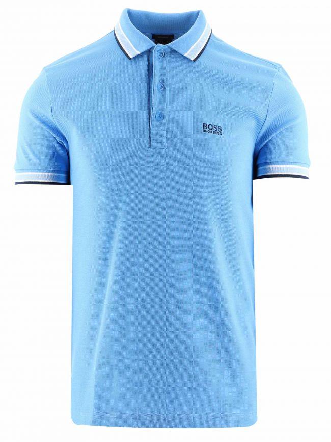 Light Blue Regular Fit Short Sleeve Paddy Polo Shirt