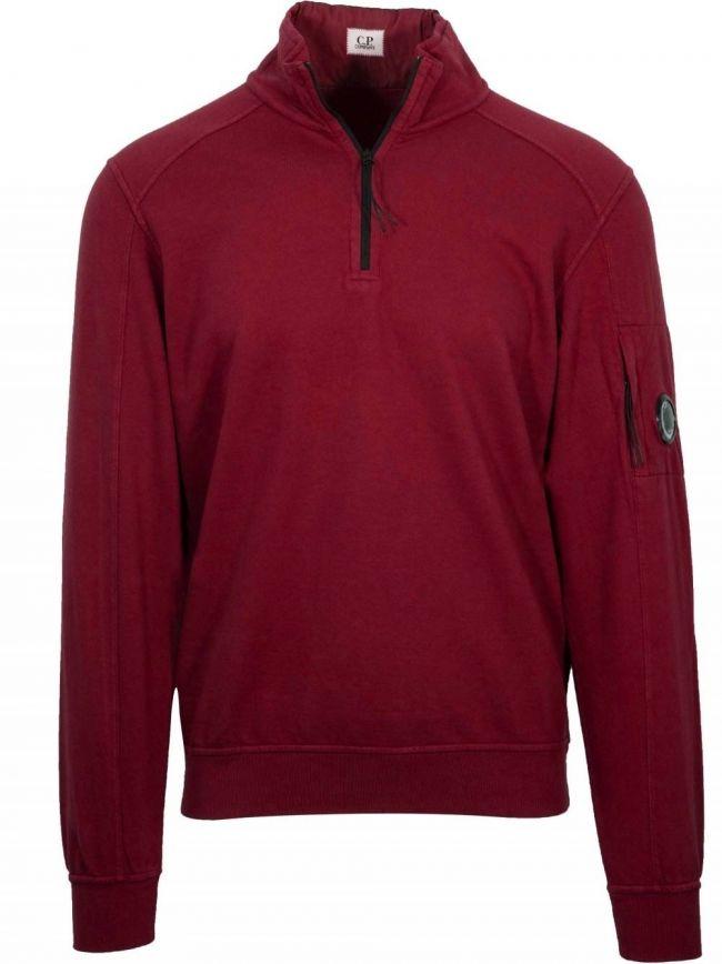 Red Half Zip Sweatshirt