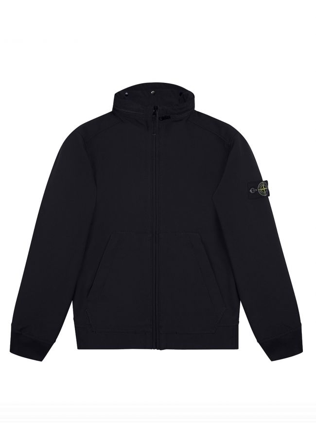 Navy Soft Shell-R Concealed Hood Jacket