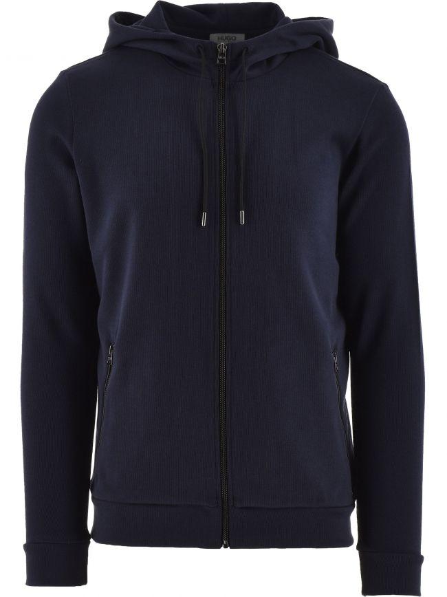Dark Blue Debasti Hooded Zip Sweatshirt