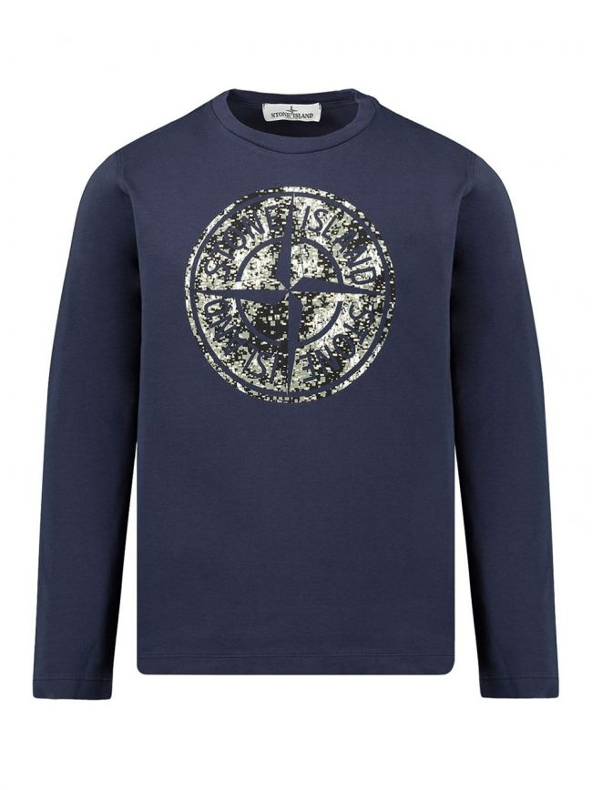 Blue Digital Camouflage Logo T-Shirt