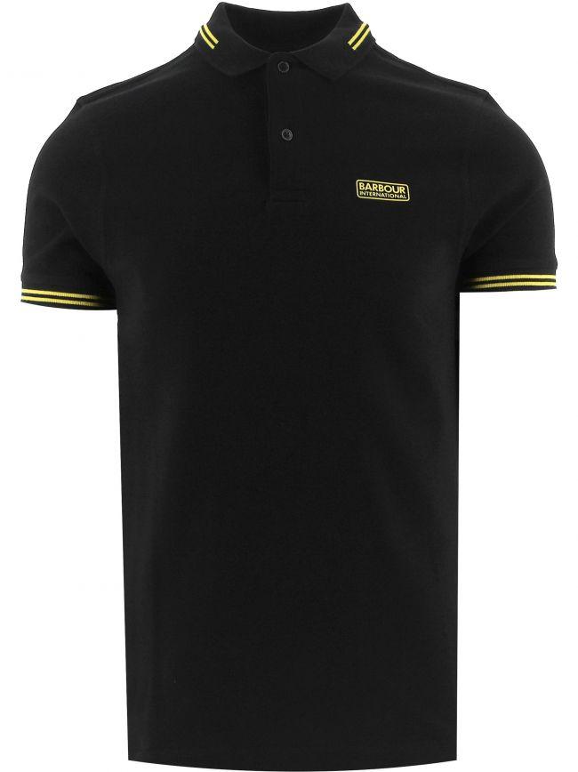 Black Essential Tipped Polo Shirt