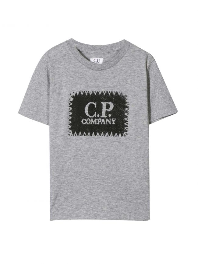 Grey Patch Logo T-Shirt