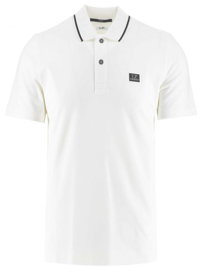 Off White Slim Fit Polo