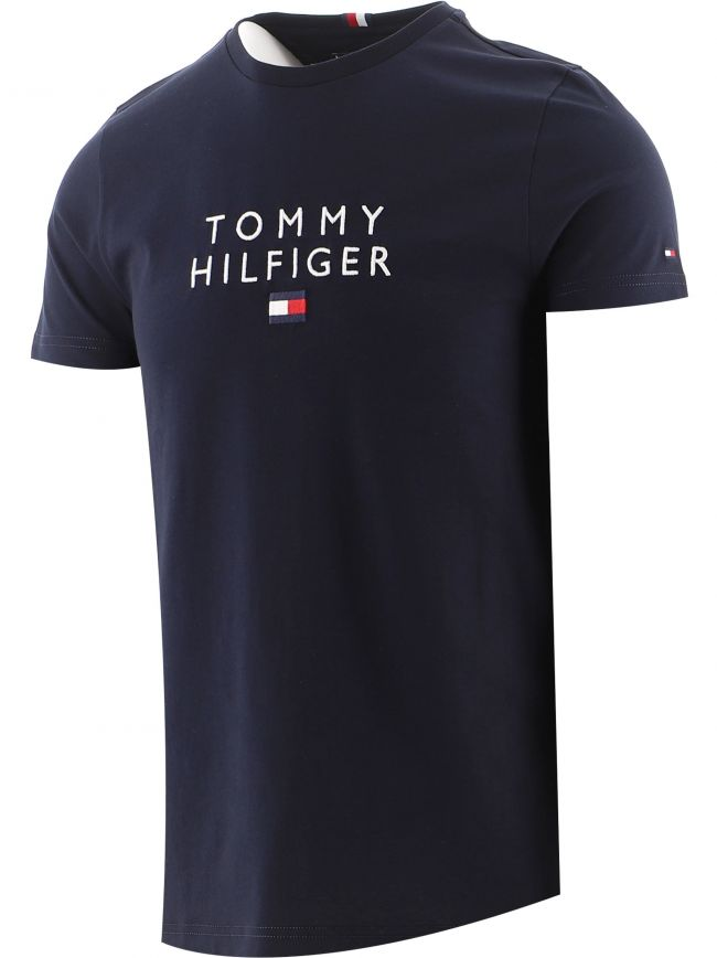 Navy Logo Embroidery T-Shirt