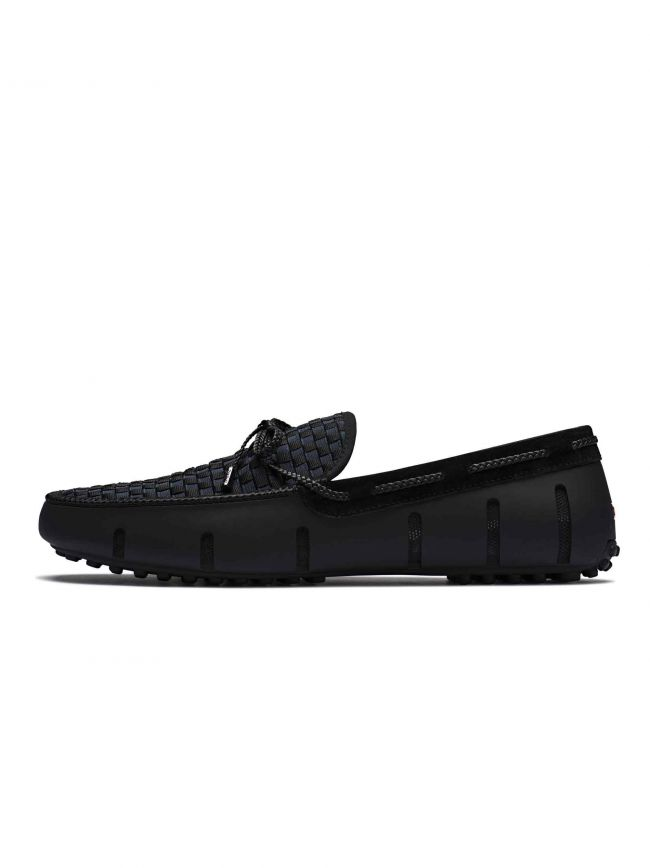 Black Woven Lace Loafer
