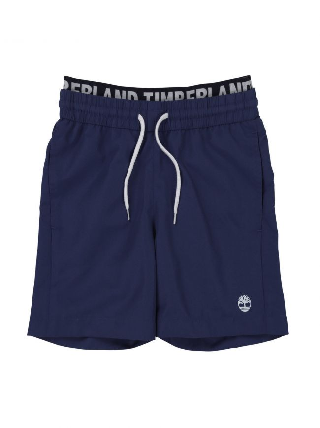 Blue Logo Band Swim Shorts
