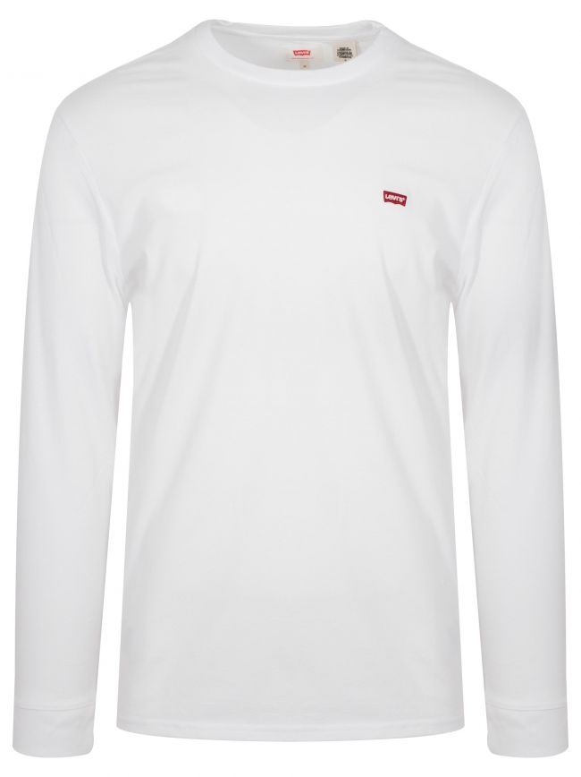 Classic White Long-Sleeved Embroidered Logo T-Shirt