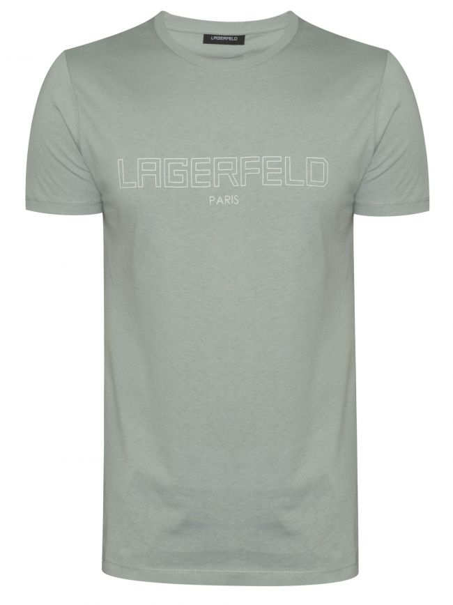 Sage Green Chest Logo T-Shirt