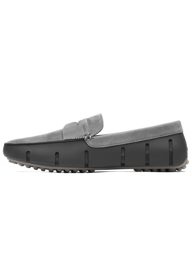 Grey and Alloy Penny Lux Driver Loafer