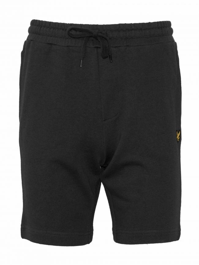 Black Jersey Cotton Shorts