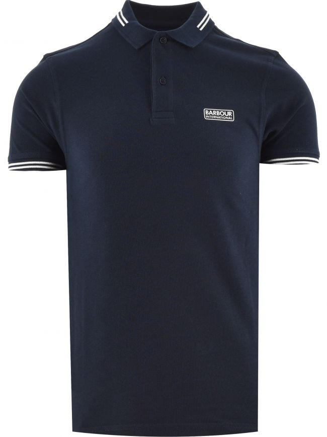 Navy Essential Tipped Polo Shirt