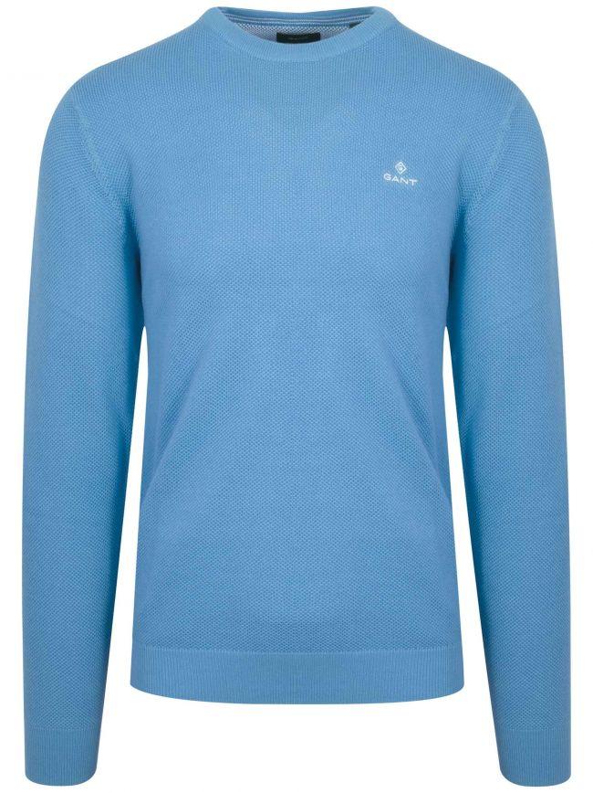 Blue Honeycomb Sweatshirt