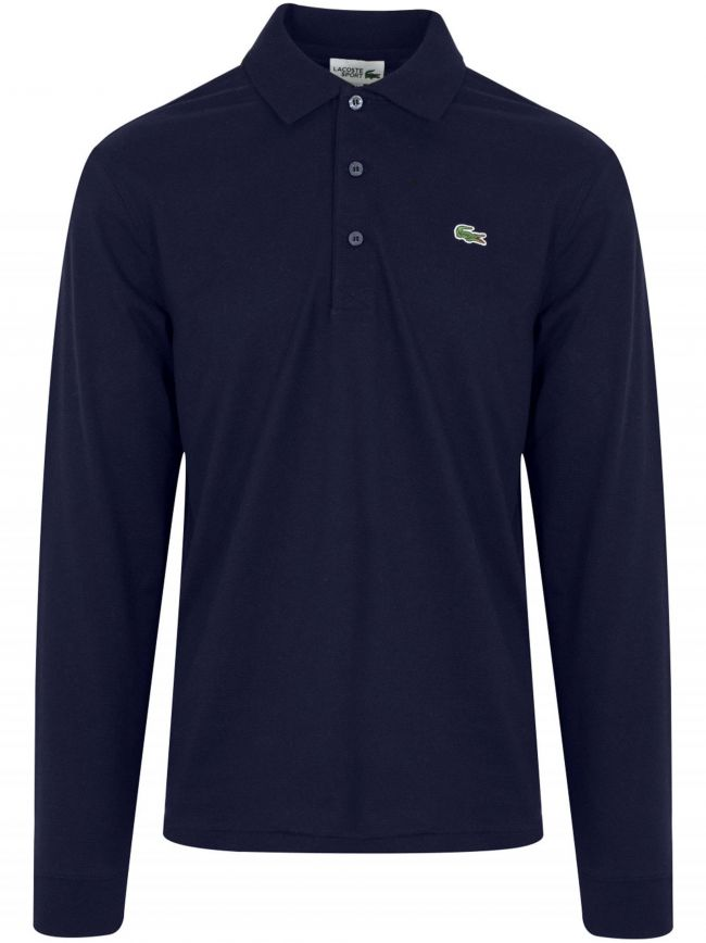 L1330 Navy Long Sleeved Polo Shirt