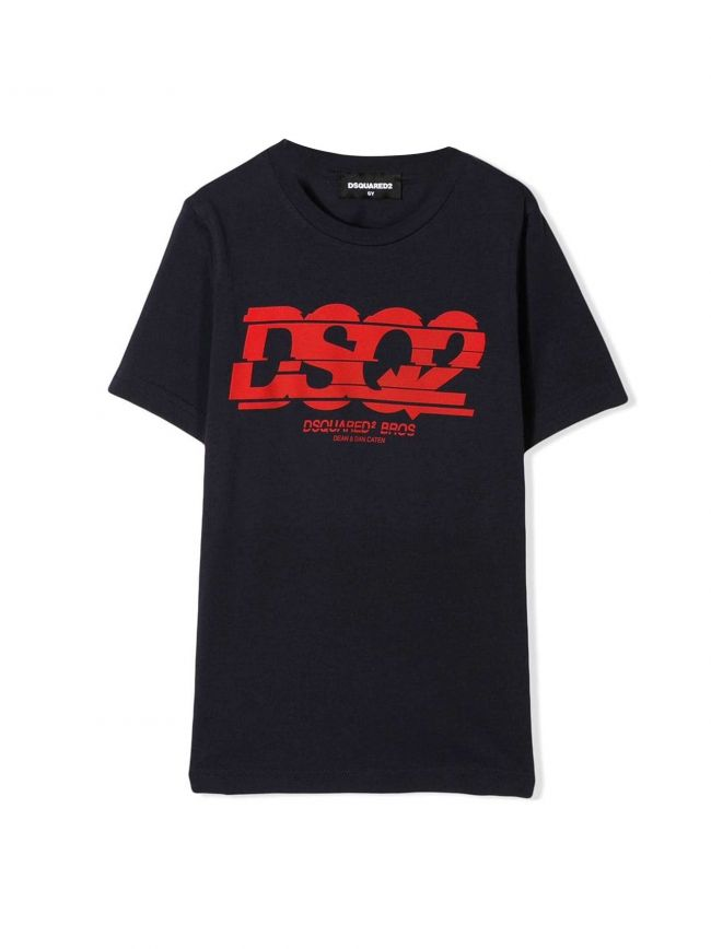 Navy & Red Slice Logo T-Shirt
