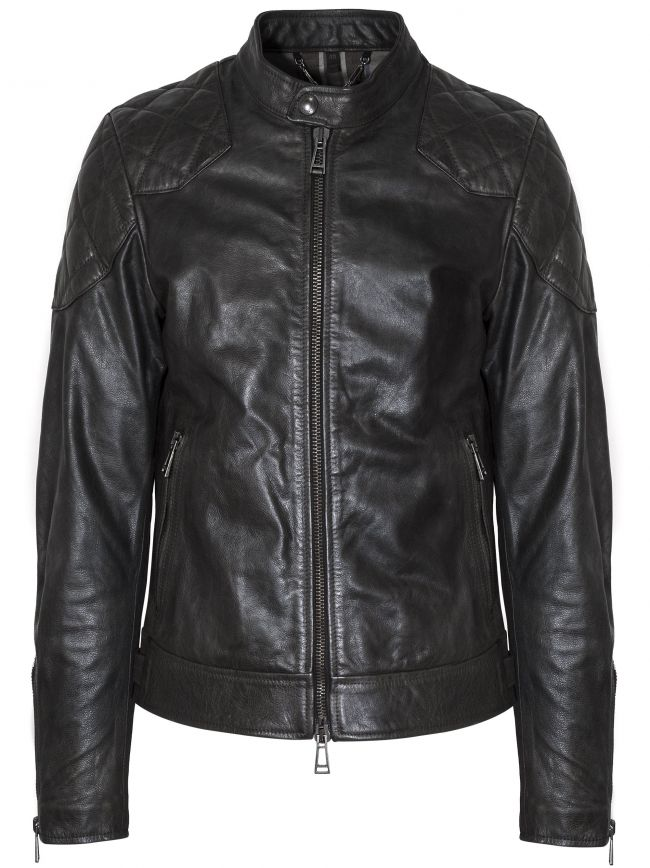 Black Outlaw Leather Jacket