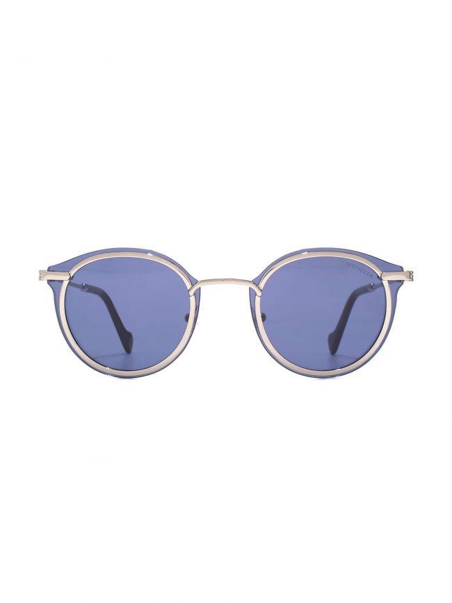 Light Ruthenium Round Frame Sunglasses