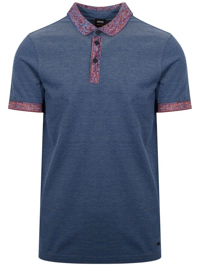 Punch Navy Pique Polo Shirt