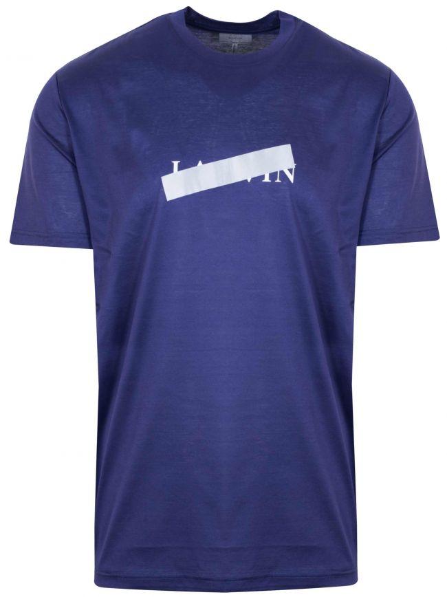 Indigo Blue Reflective Cross T-Shirt