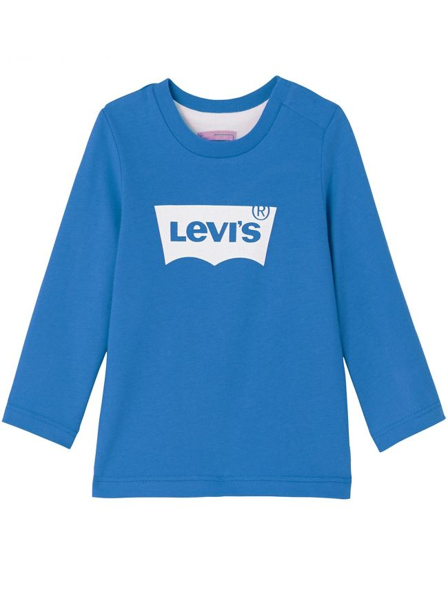 Blue Long Sleeve Batwing T-Shirt