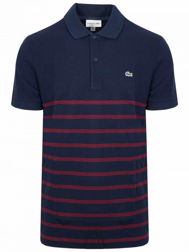 Striped Navy Polo Shirt