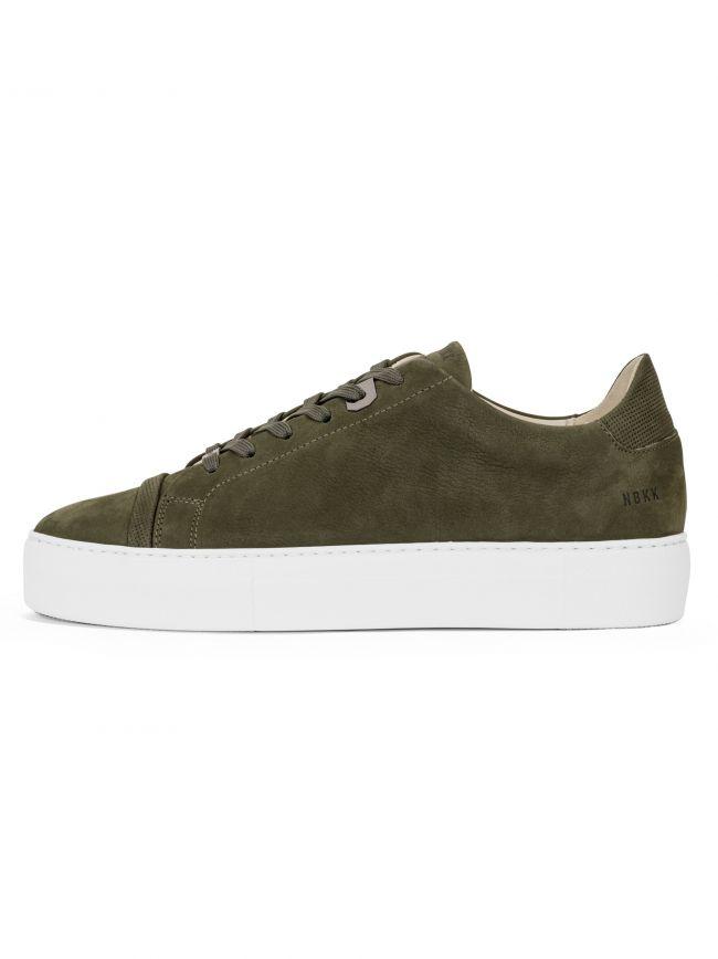 Dark Green Nubuck Jagger Aspen Sneaker