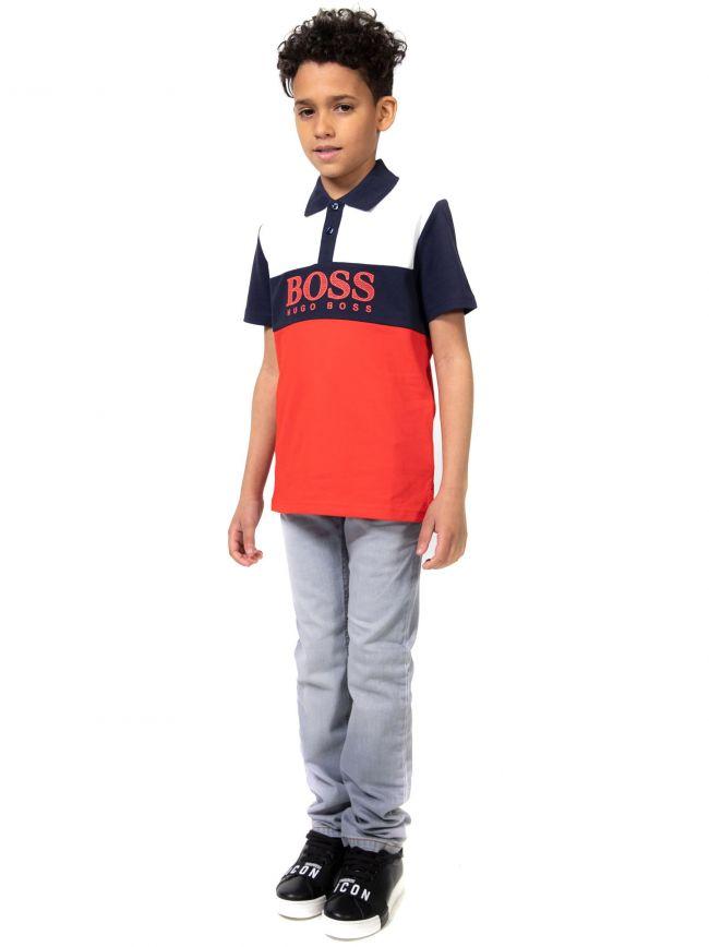 BOSS Kids Multi-Coloured Logo Polo Shirt