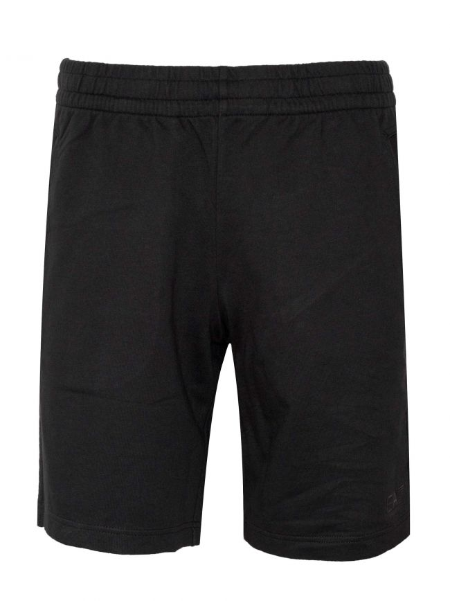 Black Logo Cotton Shorts