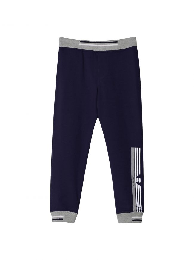 Navy & Grey Cuffed Jog Pant