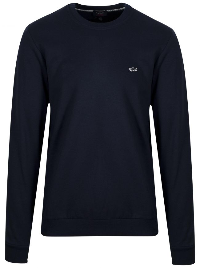 Navy Shark Logo Sweatshirt