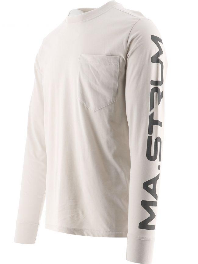Off-White Long Sleeve Print T-Shirt