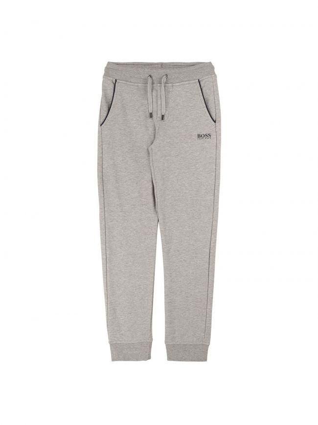 Grey Cotton Tracksuit Pants