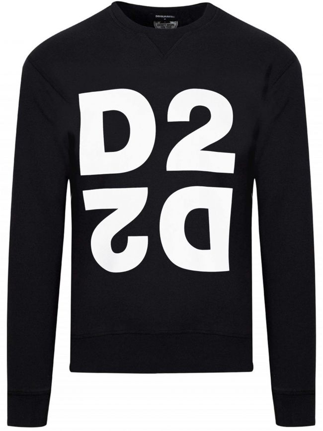 Black D2 Logo Crew Neck Sweatshirt