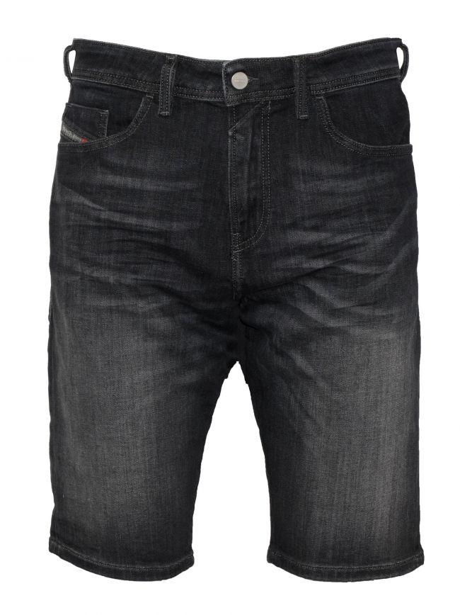 Thashort Dark Grey Denim Washed Shorts